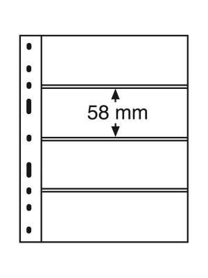 OPTIMA Plastic Pockets, 4-way division, black, 331859