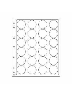 Plastic sheets ENCAP for 24 coins with diameter between 34 and 35 mm, 343213