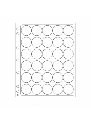 Plastic sheets ENCAP for 30 coins with diameter between 32 and 33 mm, 329237