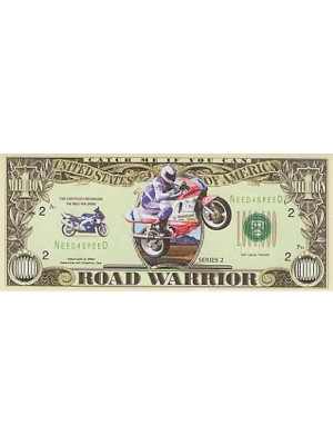 "Million Dollars motorcyclists banknote ""ROAD WARRIOR"""